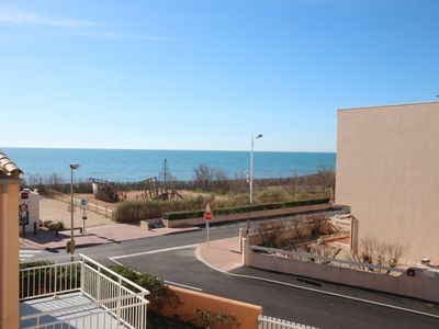 Photo for Studio with mezzanine for 2/4 people, balcony with view of the sea, 50m from the beach of...