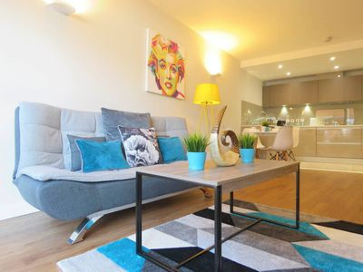 Photo for Modern design 1 bedroom apartment with free gated parking