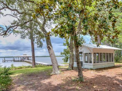 Photo for Bayfront home w/ amazing views, pier, boat slip, & private smokehouse - one dog