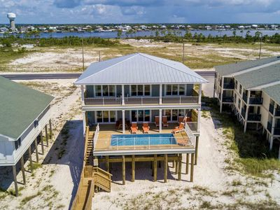 Photo for STUNNING Beach Home | Directly on the Beach with Private Pool and Boardwalk!