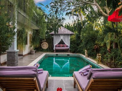 Photo for 2 BR Canggu Pool Villa, Daily staff service, Sleeps 4 guests, Beach 10 minutes