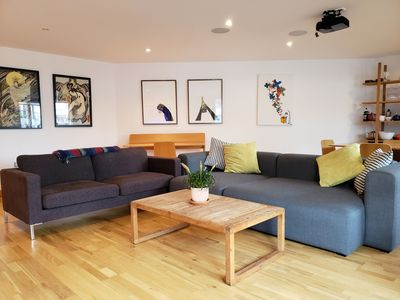 Photo for Bright luxurious apartment overlooking canal and Olympic park in Hackney Wick