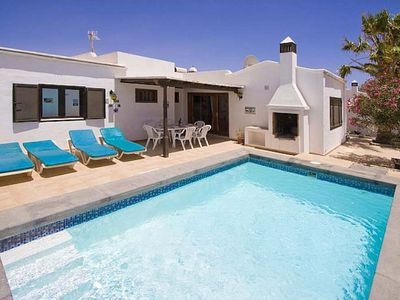 Photo for Centrally located villa with 3 bedrooms and 2 bathrooms, 5 minutes walk to the beach, private pool a