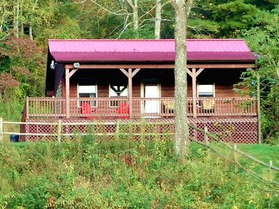 Photo for Modern Cabin on New River Trail & Creek, Pet Friendly, Biking,  Hiking, Fishing