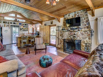 Photo for Dog-friendly mountain retreat w/ well-appointed deck and private hot tub