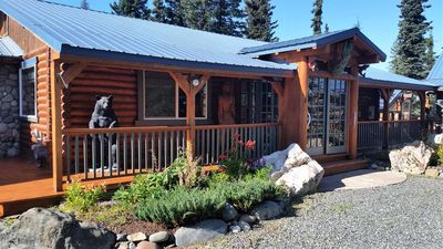 Photo for Custom 2 bedroom, 2 bath Log home for your Alaskan Getaway