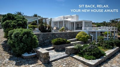 Photo for FULLY FLEXIBLE POLICY! Manu Mykonos Luxury Villa 200m from the beach!! 5 br up to 14 Guests Private Pool