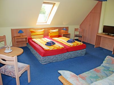 Photo for 2 - Room - Apartment - DEB 011 Pension - directly on the waterfront with boat rental and sauna