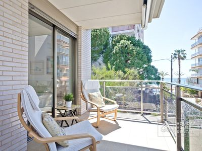 Photo for S22 Fabulous flat 80m beach + Parking + Wifi + Air with