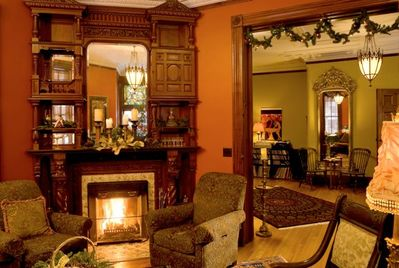 Main Parlor with fireplace