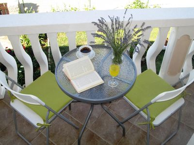 Photo for One bedroom apartment with terrace Privlaka, Zadar (A-5746-c)