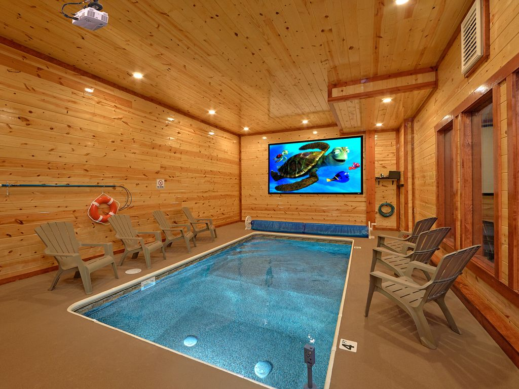 Splash Mountain Lodge Brand New Luxury Cabin With Private Indoor Pool And 1081392