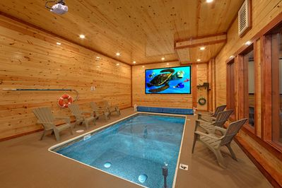 Groovy Brand New Luxury Cabin With Private Indoor Pool And Theater Pigeon Forge Interior Design Ideas Gentotthenellocom