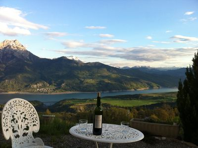 Photo for Rent house with panoramic view on the lake of Serre-Ponçon