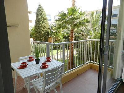 Photo for THE LAVANDOU - CLOSE BEACH. SWIMMING POOL AND TENNIS. BIG 2 ROOMS CABIN.