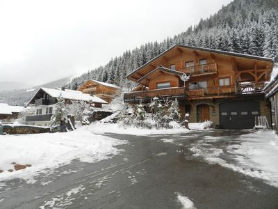 Photo for Upscale penthouse in beautiful chalet in the heart of Châtel