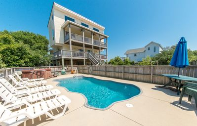 Photo for D7980 Sunset Place. Private Pool, Hot Tub, Linens, Volleyball, Golf Nearby!