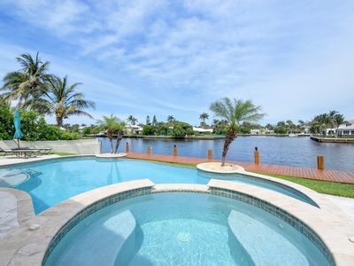 Photo for Magnificent waterfront 8 sleeper home with plunge pool and dock.