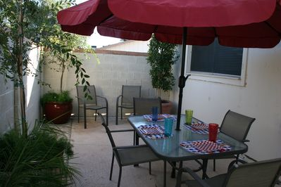 Enjoy the outdoors on a lovely private patio