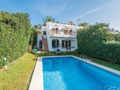 Photo for 3 bed 2 bath villa w/private pool, very close to Son Bou and sandy beach.