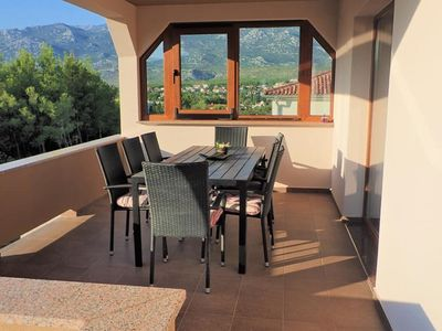 Photo for Lovely 3 bedroom apartment with nice covered terrace, only  150m from the sea