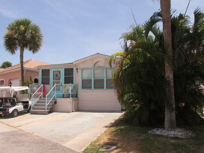 Footprints Beach Cottage. Enjoy the Intracoastal breezes from the front porch.