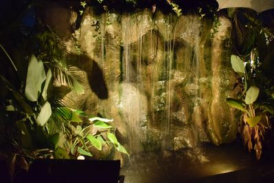 Soothing Waterfall Adjacent to Your Bungalow