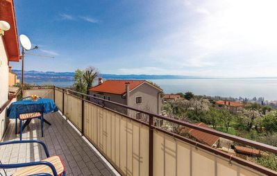 Photo for One bedroom apartment with balcony and sea view Lovran (Opatija)