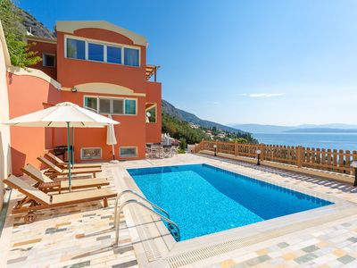 Photo for Villa Astaria: Large Private Pool, Walk to Beach, Sea Views, A/C, WiFi, Car Not Required, Eco-Friend