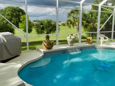 Photo for Gulf Course View, Minutes to Boca Grande & Englewood Beaches, Private Pool, BBQ