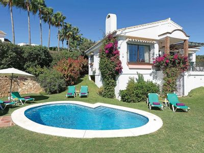 Photo for Attractive villa in popular resort with great views, gardens and a pool