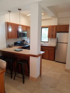 Cook your catch in the large kitchen with seating at the island...