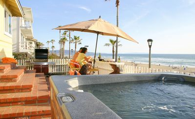 Photo for Oceanfront home,with BBQ & Jacuzzi!