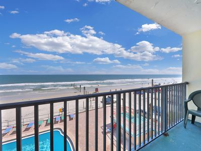 Photo for NEW LISTING! Waterfront studio w/ a furnished balcony, ocean view, & shared pool