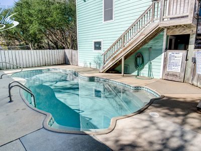 Photo for The Fishing Hole | 1250 ft from the beach | Dog Friendly, Private Pool, Hot Tub