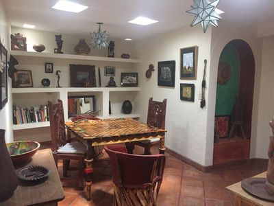 Photo for Art filled home, one story, with sunny patio garden. Close walking distance to Centro .      Historico . Bright and cheerful.