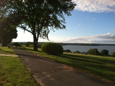 Photo for Stunning views of Casco Bay from quiet comfortable apartment