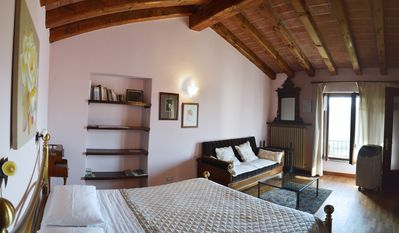Photo for PANORAMIC VIEW, RELAXING, BIKE, FINE-FOOD, WINE AND MORE. Bed & Breakfast in Alba