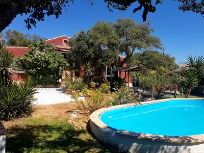 Photo for Idyllic gr. Country house with pool in pure nature. 10 min. from all beaches, wifi