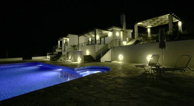Photo for 2 Bed Villa Set in Olive Grove With Private Heated Pool and Sea Views
