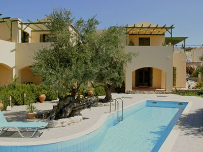 Photo for Quiet, relaxing flat, with pool surrounded by olive trees, great mountain views
