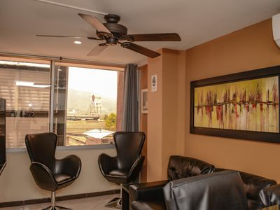2 Bedroom AC hot tub 1 block from Park Poblado and AC in both bedrooms