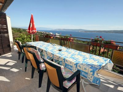 Photo for Three bedroom apartment with terrace and sea view Dramalj, Crikvenica (A-5491-a)