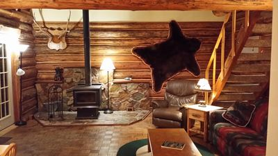 Photo for Montana log cabin get away next to Glacier National Park