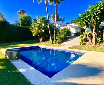 Photo for 3 Bed Villa - Offers June/July/August - Large Private Garden and Swimming Pool