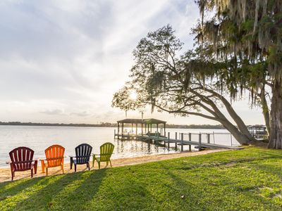 Photo for Orlando Luxury Lakefront Ski Home (Family Friendly Estate)