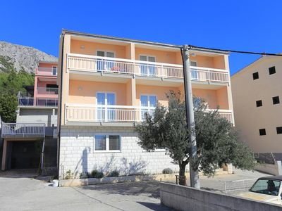 Photo for One bedroom apartment with balcony and sea view Stanići, Omiš (A-2818-a)