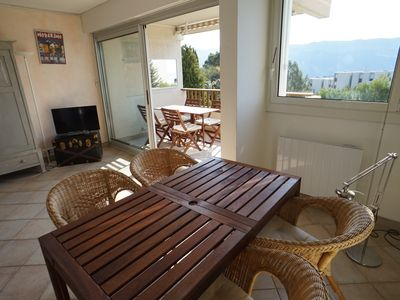 Photo for CASSIS APARTMENT 62 M2, SEA VIEW 180 ° MARINE LAND IN RESIDENCE