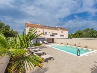 Photo for Beautiful and luxury holiday house  with private pool in Brzac, Island Krk, Croatia for 8 persons