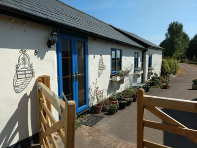Photo for Cottage on working farm Somerset/Devon, hot tub available, WiFi, sleeps 4